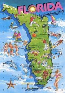 Florida fun map