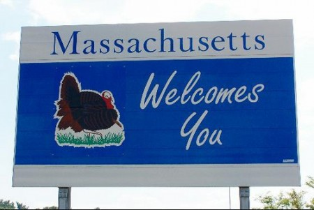 Massachusetts sign