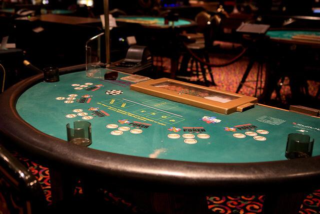 blackjack table empty casino