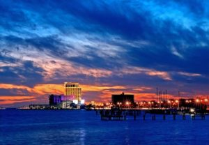 The sun sets on Biloxi