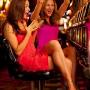 Girls playing slots
