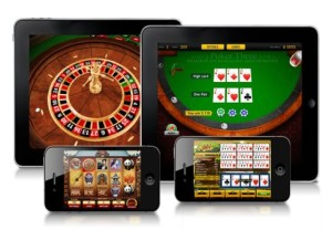 image of gambling on phones and tablets