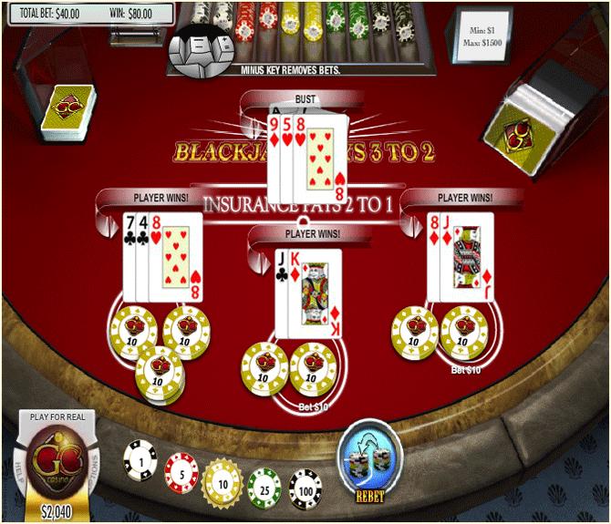 online blackjack game