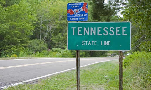 Tennessee welcome sign - possible casino expansion