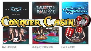 Conquer Casino Bonus Logo