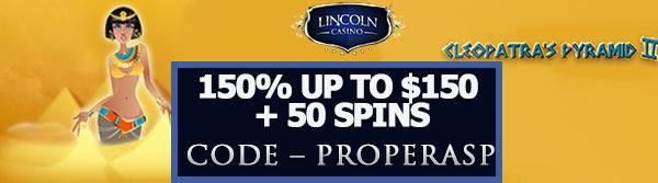 Lincoln Casino Bonus - Cleopatra's Pyramid II