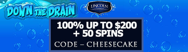 100% up to $200 + 50 Spins on Down the Drain
