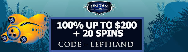 100% up to $200 + 20 Spins on 20,000 Leagues