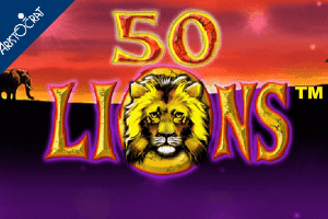 50 Lions Slot Game Logo