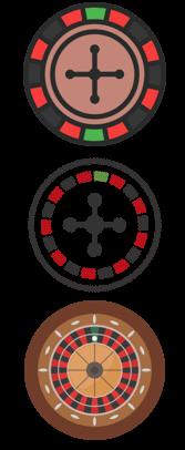 Roulette Wheels Vertical