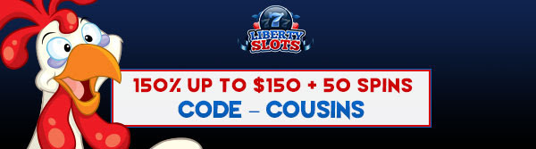 150% up to $150 + 50 Spins on Funky Chicken
