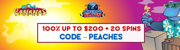 100% up to $200 + 20 Spins on Cool Bananas