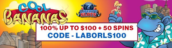 100% up to $100 + 50 Spins on Cool Bananas
