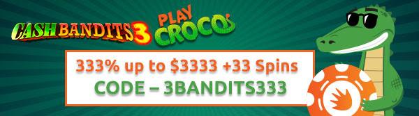 333% bonus at PlayCroco