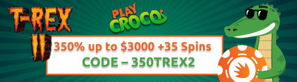 350% up to $3000 +35 Spins
