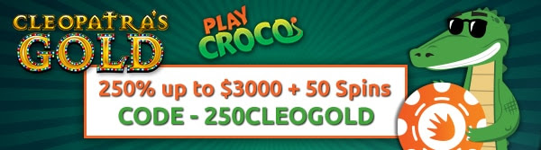 250% up to $3,000 plus fifty spins at Play Croco