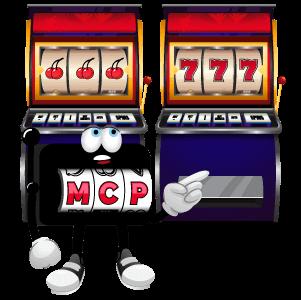 MCP character choosing a slot machine