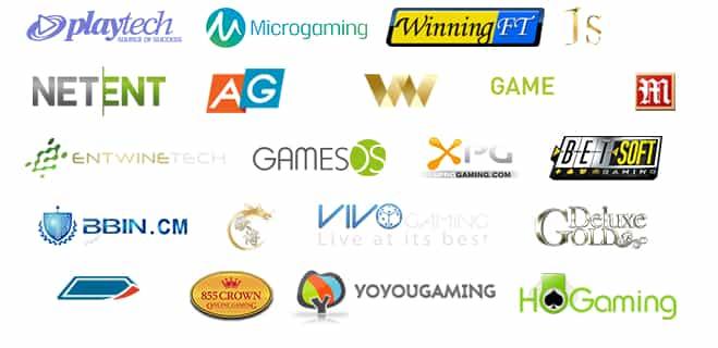 casino software logos